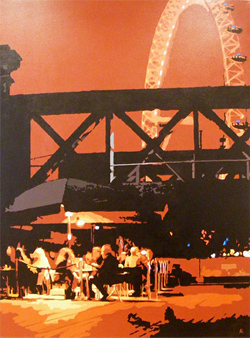 Annie Ralli, Limited edition print, South Bank, Spring Evening