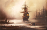 Barry Hilton, Original oil painting on canvas, Marine Scene