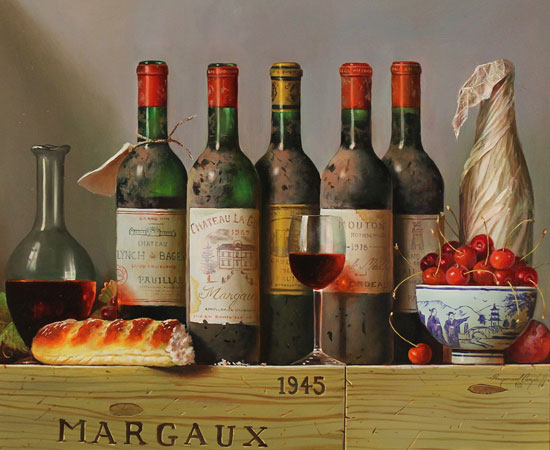 Raymond Campbell, The Vintner's Finest, Original oil painting on panel
