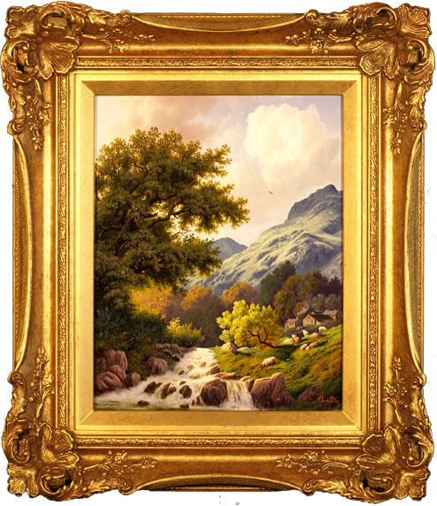 Daniel Van Der Putten, Original oil painting on panel, Langdale Pike, Lake District Click to enlarge