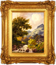 Daniel Van Der Putten, Langdale Pike, Lake District, Original oil painting on panel