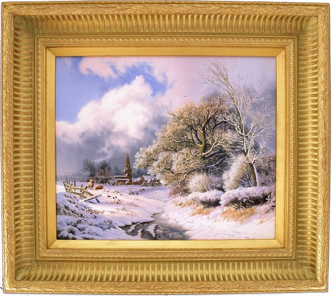 Daniel Van Der Putten, Original oil painting on panel, Newnham in Winter, Northamptonshire Click to enlarge