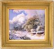 Daniel Van Der Putten, Original oil painting on panel, Newnham in Winter, Northamptonshire Medium image. Click to enlarge