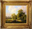 Daniel Van Der Putten, Original oil painting on panel, Bluebells at Mantels Heath, Preston Capes Medium image. Click to enlarge