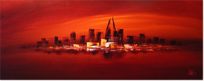 Dennis Wood, Original acrylic painting on canvas, Dubai