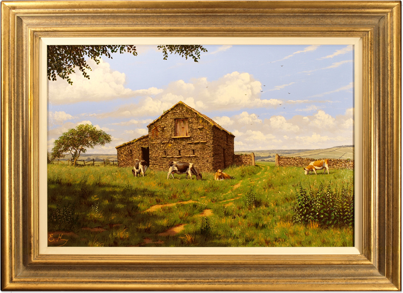 Edward Hersey, Original oil painting on canvas, Swaledale Farm Click to enlarge