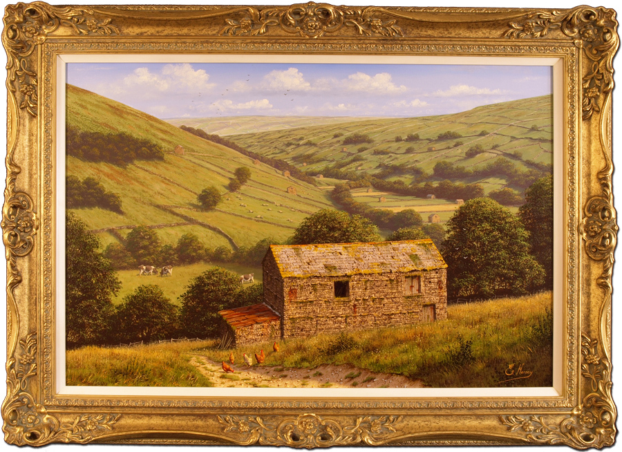 Edward Hersey, Original oil painting on canvas, Kisdon Valley, Swaledale (North Yorkshire) Click to enlarge