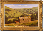 Edward Hersey, Original oil painting on canvas, Kisdon Valley, Swaledale (North Yorkshire)