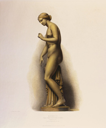 Engraving, Hand coloured restrike engraving, Marble Medium image. Click to enlarge