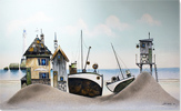 Gary Walton, Watercolour, Ye Olde Boatyard