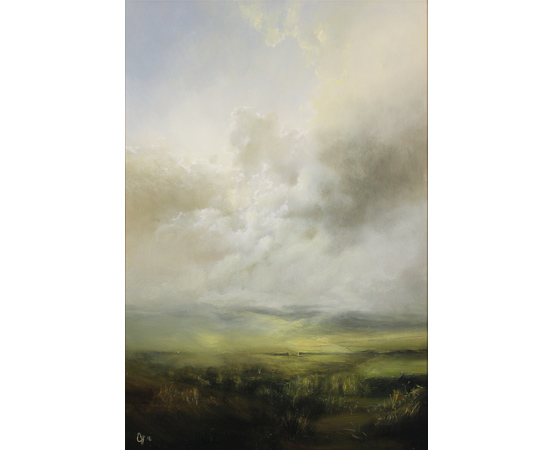 Clare Haley, Come Rain or Shine, Original oil painting on panel