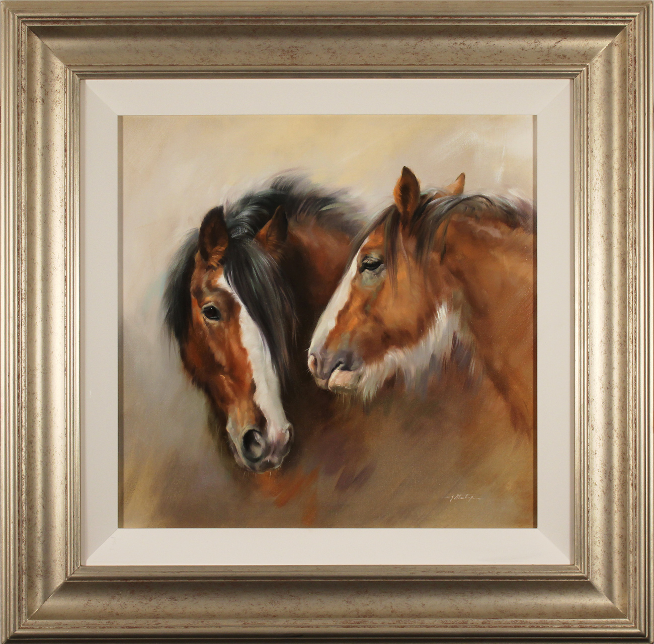 Jacqueline Stanhope, Original oil painting on canvas, Shire Horses Click to enlarge