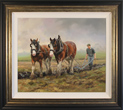 Jacqueline Stanhope, Original oil painting on canvas, Autumn Ploughing, North Yorkshire