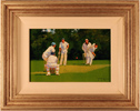 John Haskins, Original oil painting on canvas, Cricket Match