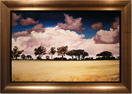 John Luce Lockett, Original oil painting on canvas, View from Sandy Lane