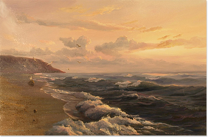 Juriy Ohremovich, Original oil painting on canvas, Seascape No frame image. Click to enlarge