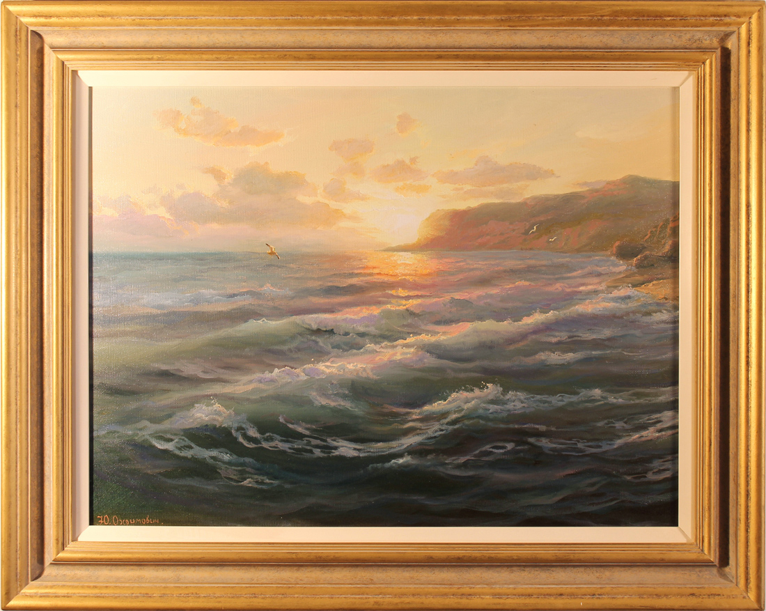 Juriy Ohremovich, Original oil painting on canvas, Sunset on the Sea Click to enlarge