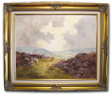 Lewis Creighton, Original oil painting on canvas, Yorkshire Moorland