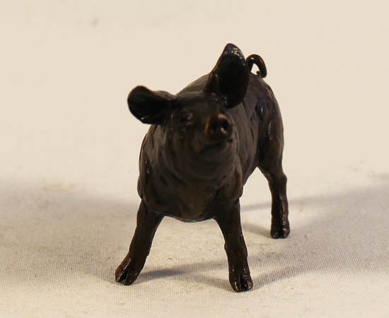 Michael Simpson, Bronze, Pig No frame image. Click to enlarge