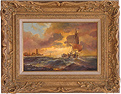 Paul Zander, Original oil painting on canvas, Marine Scene