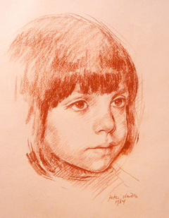 Peter Wardle, Pastel, Red Chalk