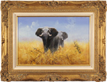 Pip McGarry, Original oil painting on canvas, Elephants
