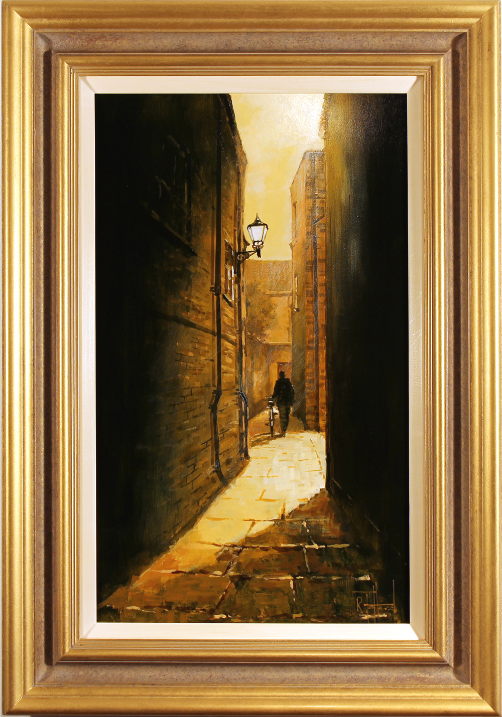 Richard Telford, Original oil painting on panel, Mad Alice Lane, York Click to enlarge
