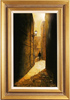 Richard Telford, Original oil painting on panel, Mad Alice Lane, York Medium image. Click to enlarge