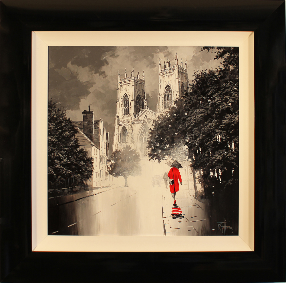 Richard Telford, Original oil painting on panel, Red Dress Click to enlarge
