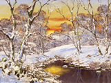Terry Evans, Original oil painting on canvas, Swaledale in Snow