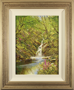 Terry Evans, Original oil painting on canvas, Woodland Spring, Yorkshire Dales