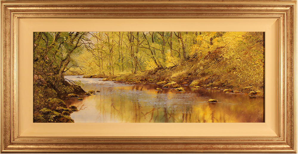 Terry Evans, Original oil painting on canvas, River Derwent Click to enlarge