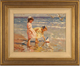 Vitali Bondarenko, Original oil painting on canvas, Beach Scene