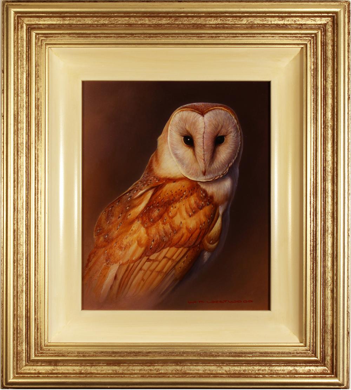 Wayne Westwood, Original oil painting on panel, Owl Click to enlarge