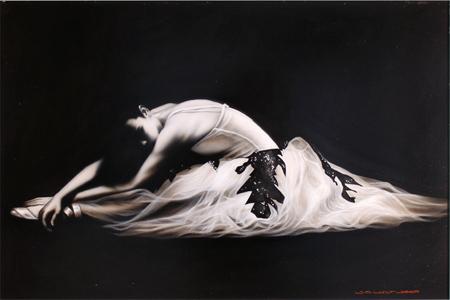 Wayne Westwood, Original oil painting on panel, Ballerina No frame image. Click to enlarge