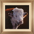 Wayne Westwood, Original oil painting on panel, Fred, The Hereford Bull