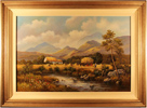 Wendy Reeves, Original oil painting on canvas, Country Scene