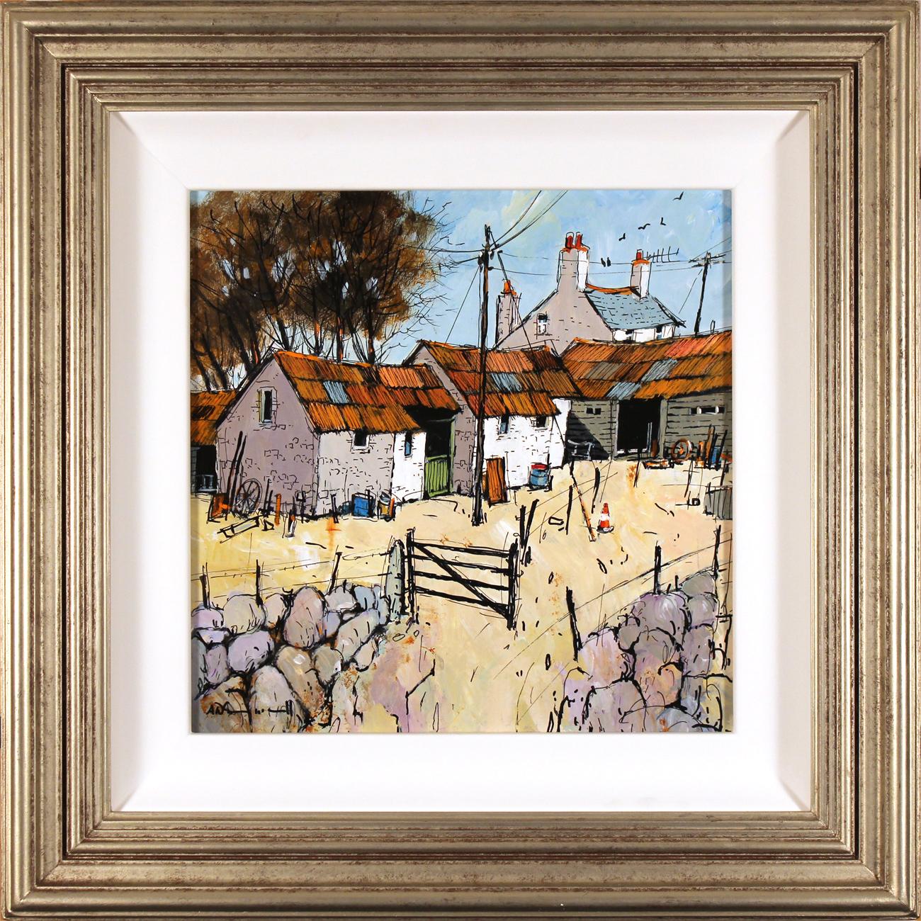 Alan Smith, Original acrylic painting on board, Farmyard Flurry Click to enlarge