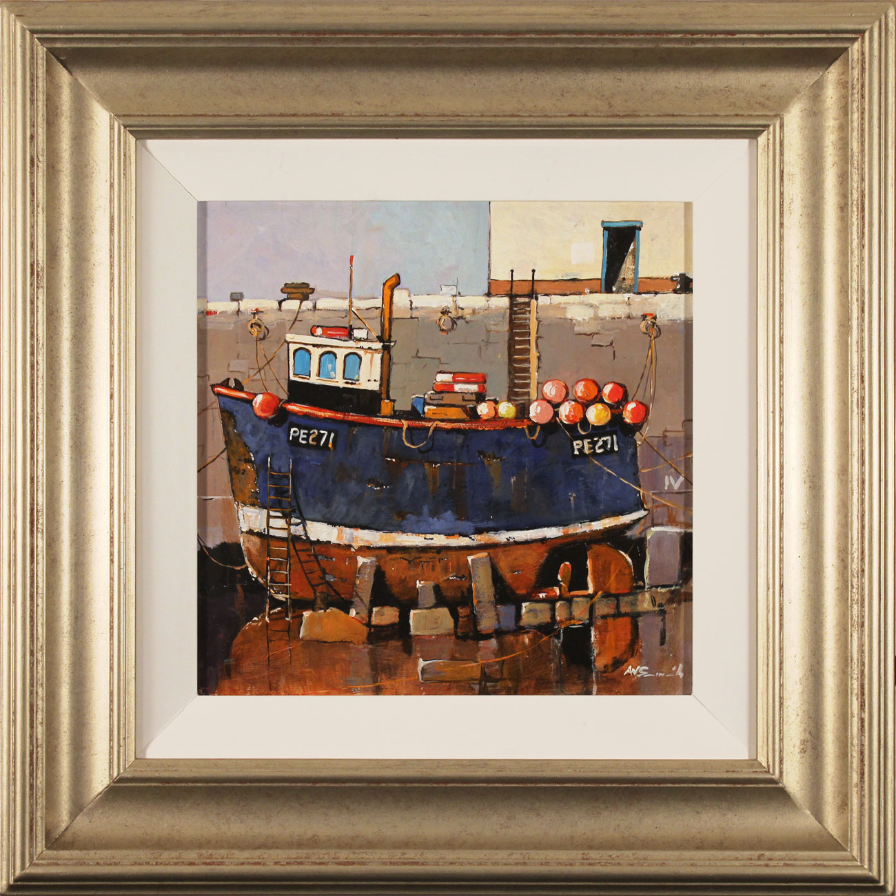 Alan Smith, Original oil painting on panel, Rusty Blue Click to enlarge