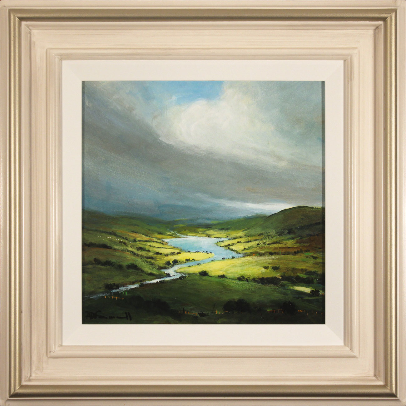 Alan Smith, Original oil painting on panel, Golden Light, The Lake District  Click to enlarge
