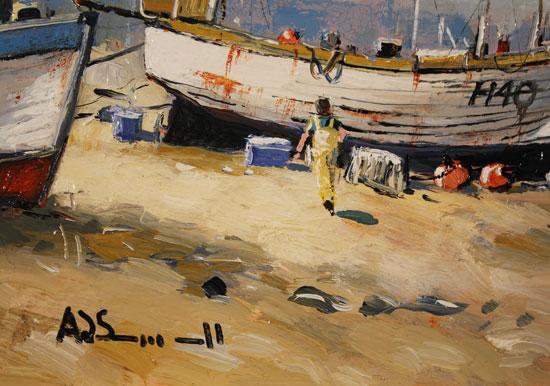 Alan Smith, Original oil painting on panel, Coastal Breeze Signature image. Click to enlarge