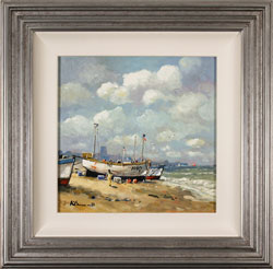 Alan Smith, Original oil painting on panel, Coastal Breeze