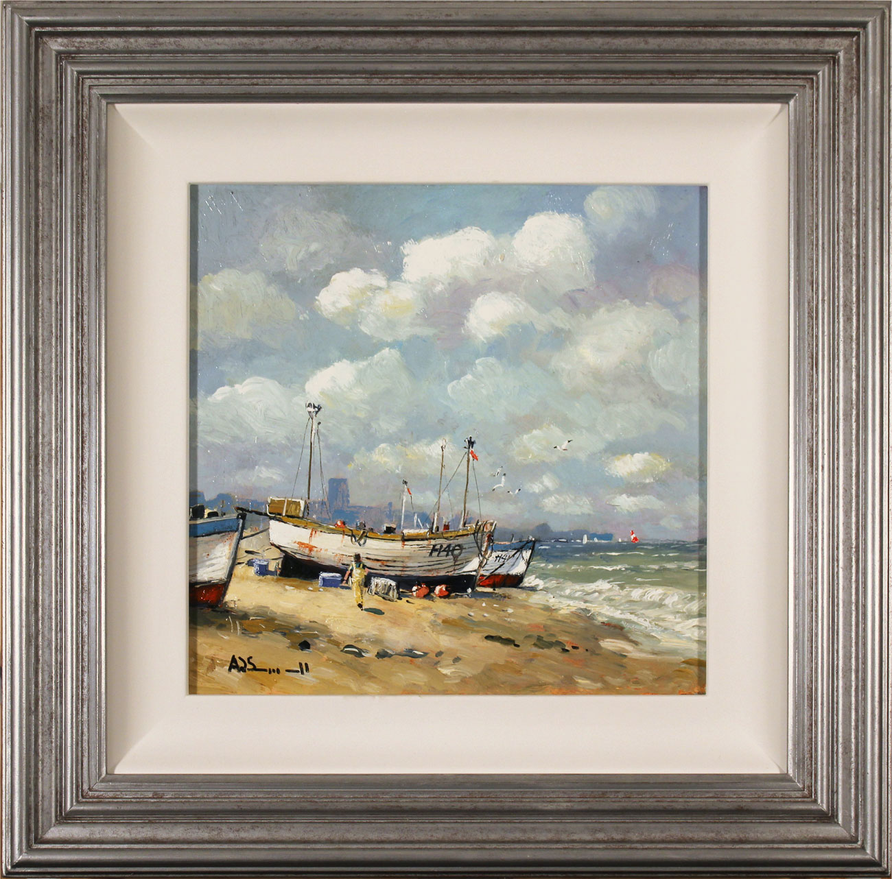 Alan Smith, Original oil painting on panel, Coastal Breeze Click to enlarge