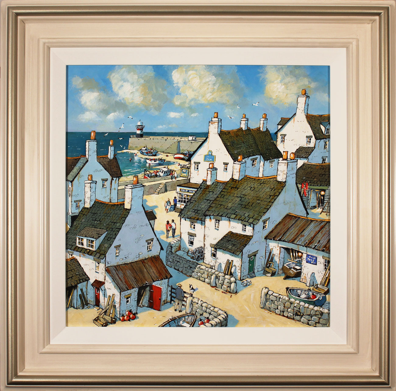 Alan Smith, Original oil painting on panel, Sights of the Harbour Click to enlarge