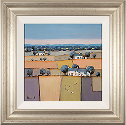 Alan Smith, Original oil painting on panel, Patchwork Fields Medium image. Click to enlarge