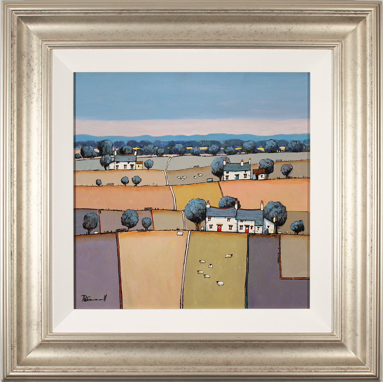 Alan Smith, Original oil painting on panel, Patchwork Fields Click to enlarge