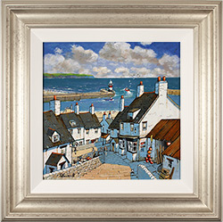 Alan Smith, Original oil painting on panel, Down to the Harbour Medium image. Click to enlarge