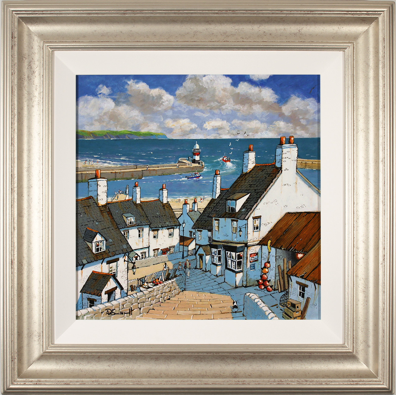 Alan Smith, Original oil painting on panel, Down to the Harbour Click to enlarge