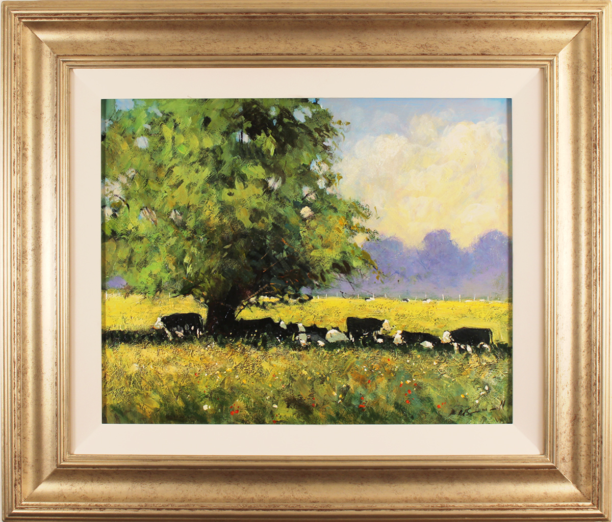 Alan Smith, Original oil painting on panel, Cows Resting Click to enlarge