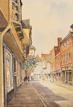 Alan Stuttle, Watercolour, Stonegate, York